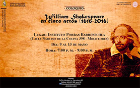 COLOQUIO WILLIAM SHAKESPEARE