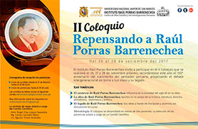 II Coloquio Repensando a Raúl Porras Barrenechea